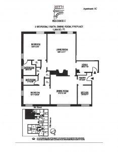 25 fifth 3C Floor Plan